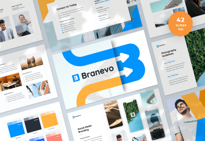 Brand Identity Guidelines Google Slides Presentation Template