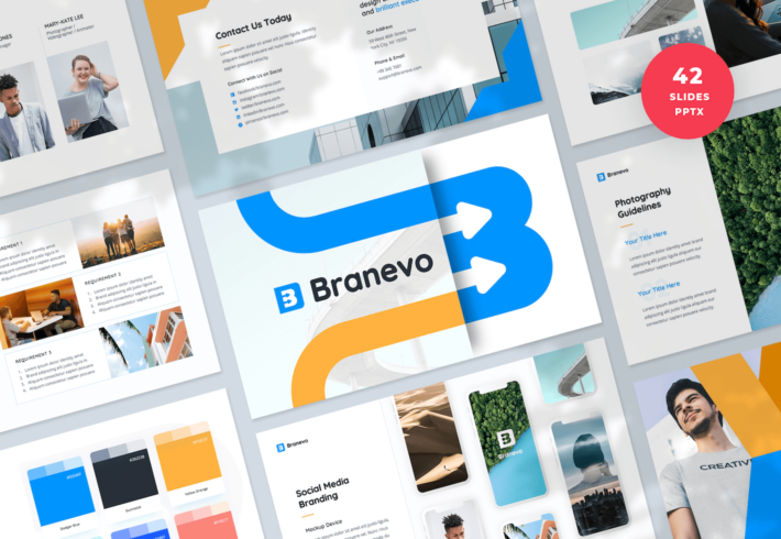 Brand Identity Guidelines PowerPoint Presentation Template