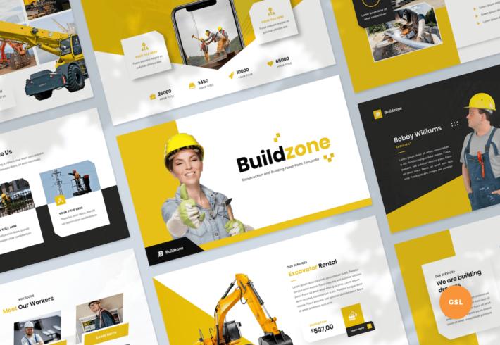 Construction & Building Google Slides Presentation Template