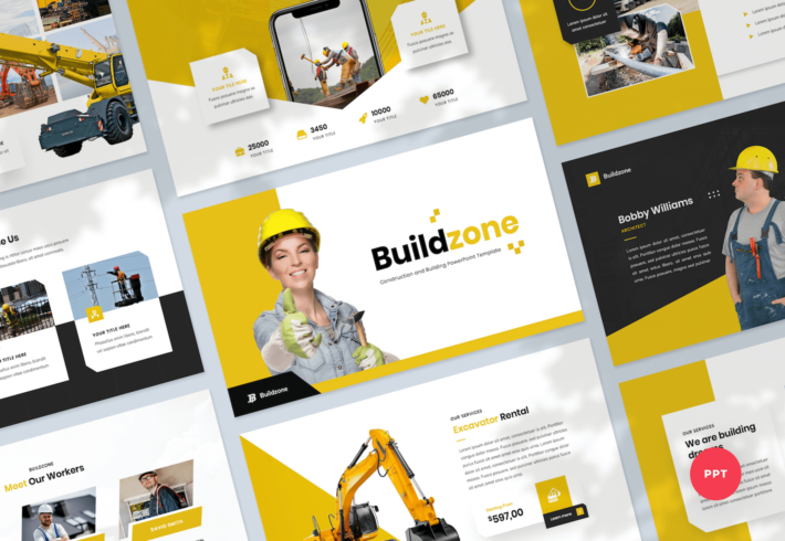 Construction & Building PowerPoint Presentation Template