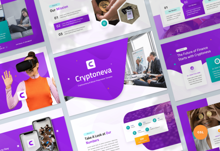 Cryptocurrency & Bitcoin Google Slides Presentation Template
