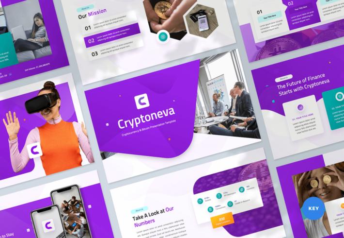 Cryptocurrency & Bitcoin Keynote Presentation Template