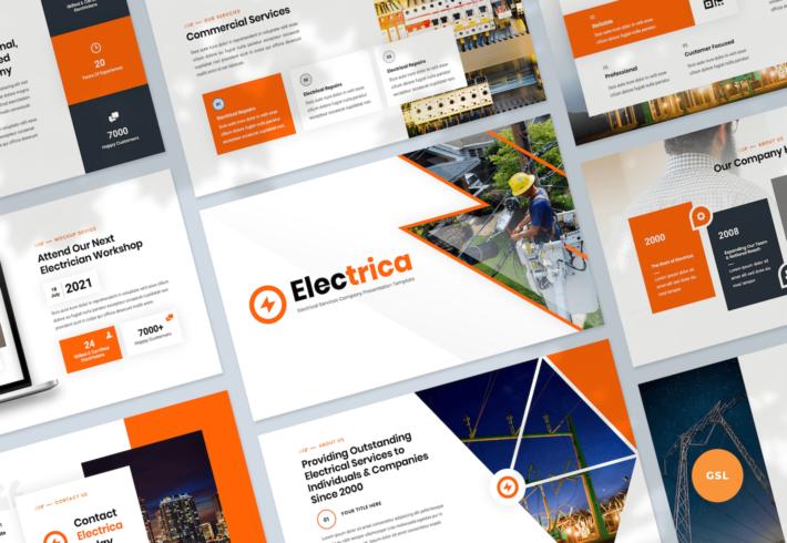Electrical Services Google Slides Presentation Template