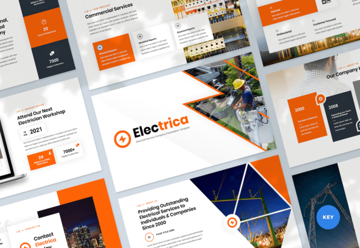 Electrical Services Keynote Presentation Template