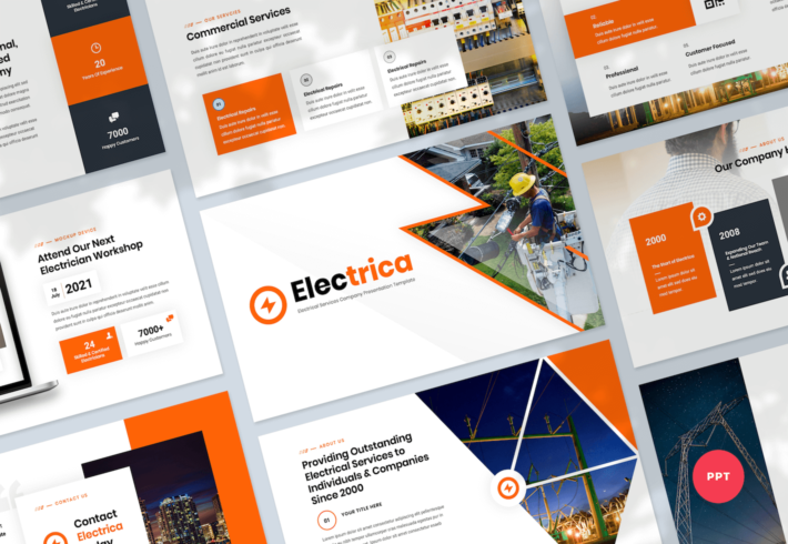 Electrical Services PowerPoint Presentation Template
