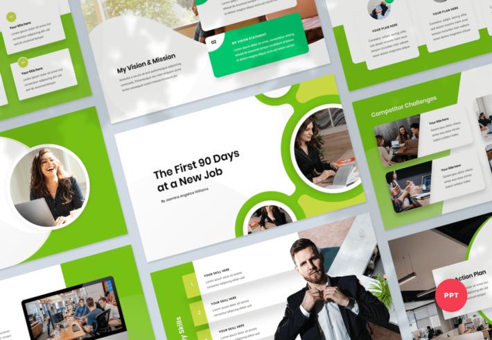 First 90 Days Plan PowerPoint Presentation Template