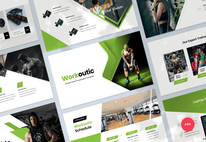 Fitness & Gym PowerPoint Presentation Template