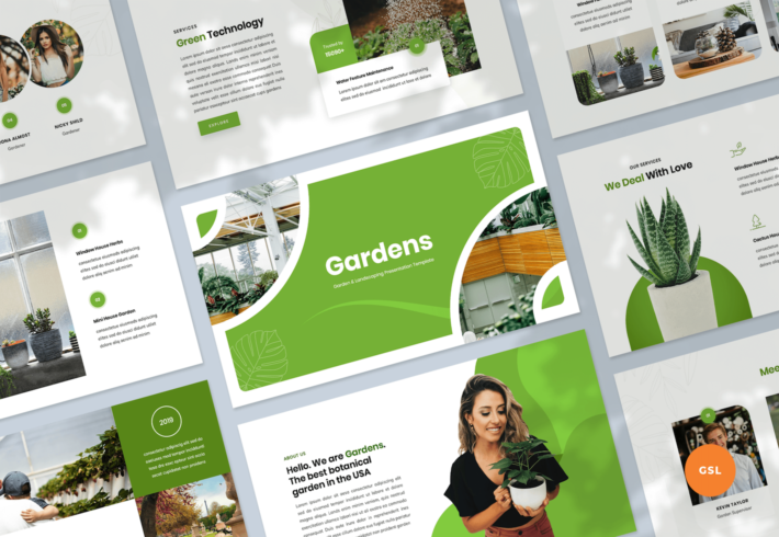 Garden & Landscaping Google Slides Presentation Template