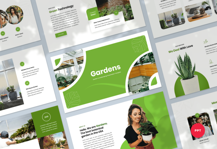 Garden & Landscaping PowerPoint Presentation Template