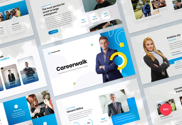Human Resources & Recruiting PowerPoint Presentation Template