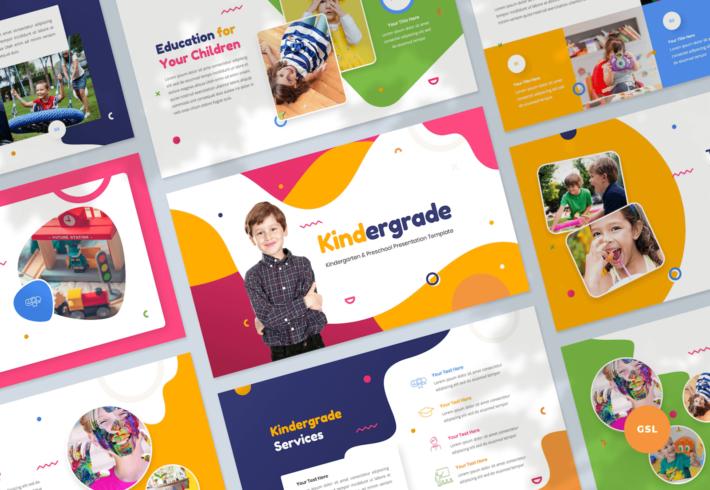 Kindergarten & Preschool Google Slides Presentation Template