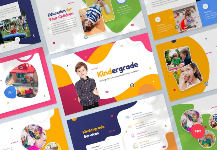 Kindergarten & Preschool PowerPoint Presentation Template