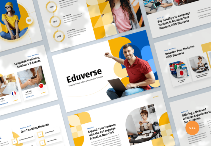 Language Course Google Slides Presentation Template