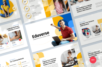 Language Course PowerPoint Presentation Template