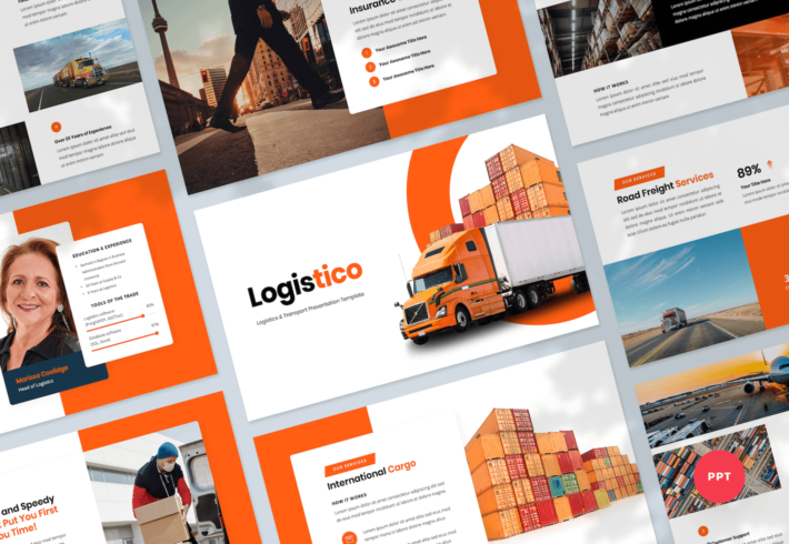 Logistics & Transport PowerPoint Presentation Template