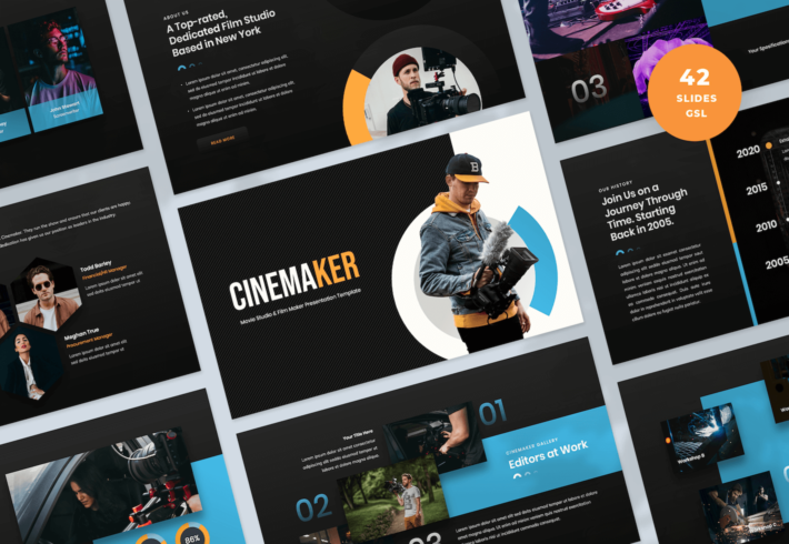 Movie Studio & Film Maker Google Slides Presentation Template