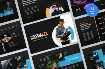 Movie Studio & Film Maker Keynote Presentation Template
