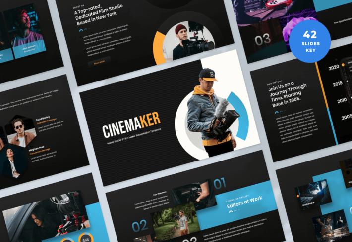 Movie Studio & Film Maker Keynote Presentation Template