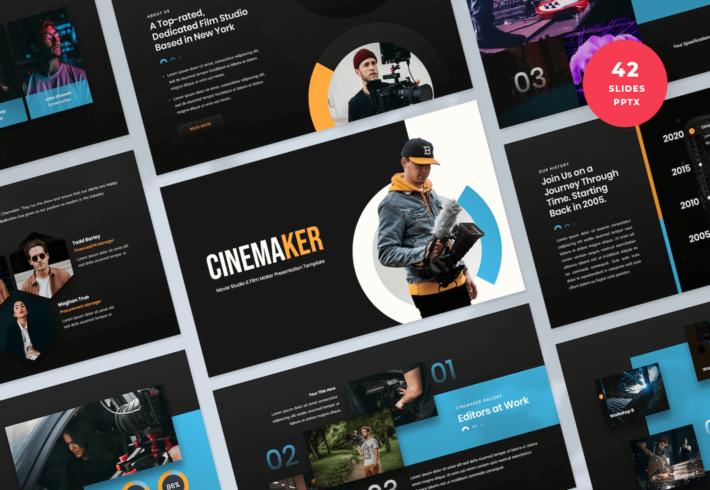 Movie Studio & Film Maker PowerPoint Presentation Template