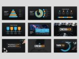 Movie Studio & Film Maker Presentation Infographics Slide
