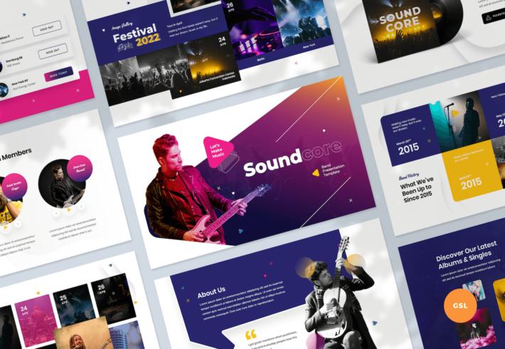 Music Band Google Slides Presentation Template
