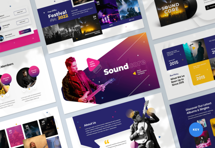 Music Band Keynote Presentation Template