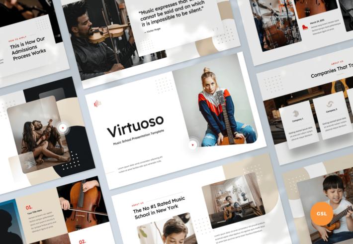 Music School Google Slides Presentation Template