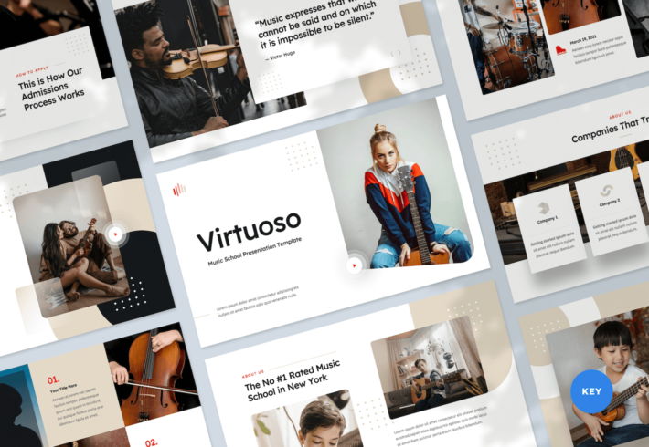 Music School Keynote Presentation Template