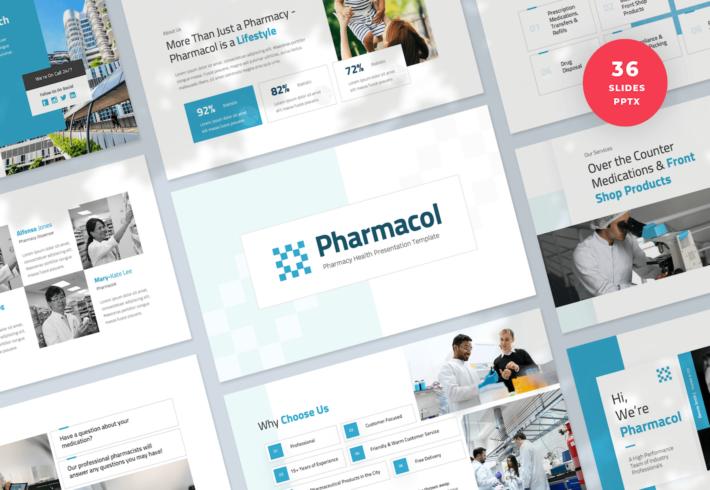 Pharmacy Health PowerPoint Presentation Template