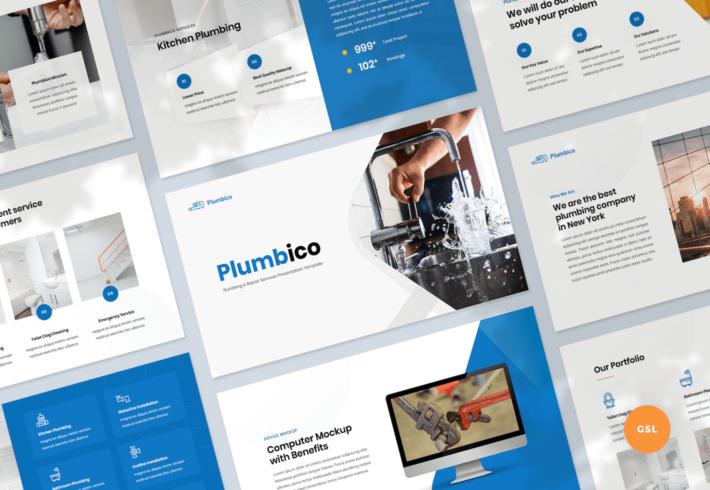 Plumbing Google Slides Presentation Template