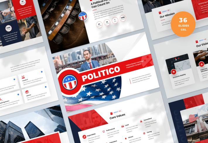 Political Election Campaign Google Slides Presentation Template