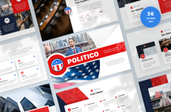 Political Election Campaign Keynote Presentation Template
