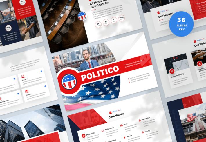 Political Election Campaign Keynote Presentation Template