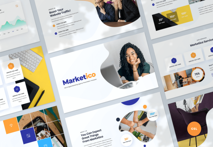 SEO & Digital Marketing Agency Google Slides Presentation Template