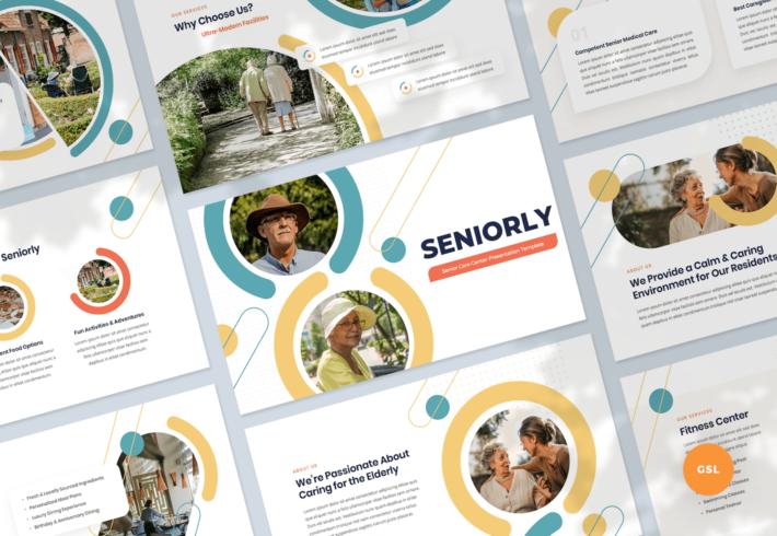 Senior Care Center Google Slides Presentation Template