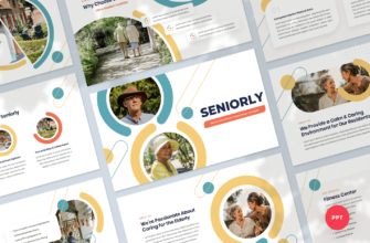 Senior Care Center PowerPoint Presentation Template