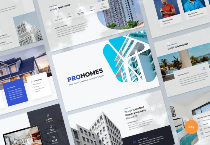 Single Property & Real Estate Google Slides Presentation Template