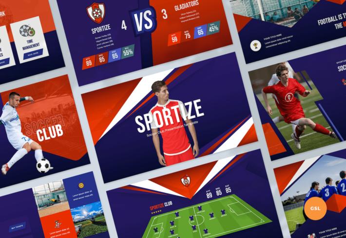 Soccer & Football Club Google Slides Presentation Template