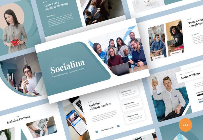 Social Media Marketing Google Slides Presentation Template
