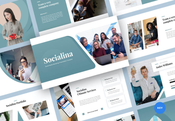 Social Media Marketing Keynote Presentation Template
