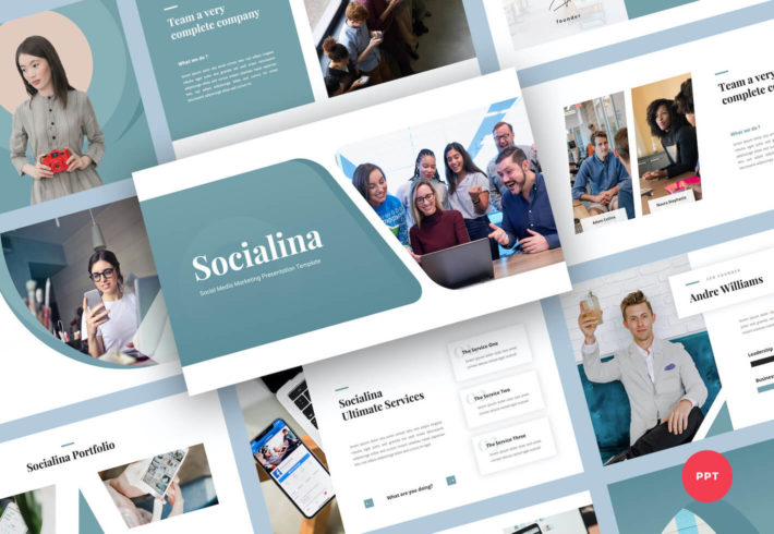 Social Media Marketing PowerPoint Presentation Template