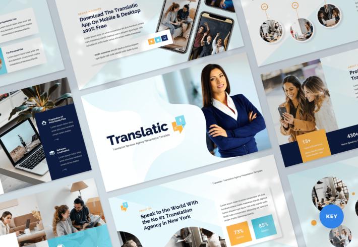 Translation Agency Keynote Presentation Template