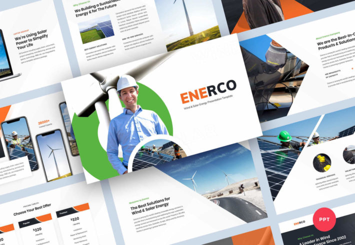 Wind & Solar Energy PowerPoint Presentation Template