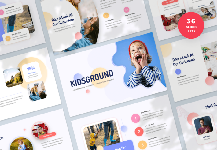 Kindergarten & Preschool PowerPoint Presentation Template