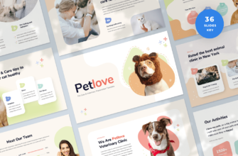 Pet Care & Veterinary Keynote Presentation Template