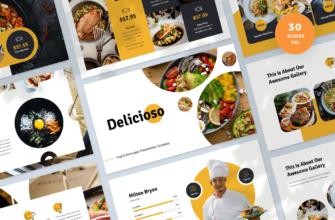 Delicioso – Food & Beverages Google Slides Presentation Template