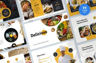 Delicioso – Food & Beverages Keynote Presentation Template