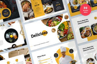 Delicioso – Food & Beverages PowerPoint Presentation Template