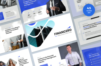 Financero – Investment & Finance Keynote Presentation Template