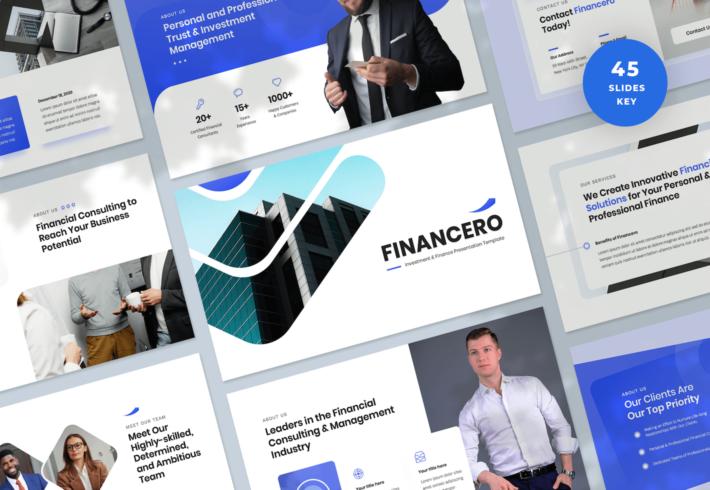 Financero – Investment & Finance Keynote Presentation Template